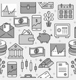 finance and money seamless pattern in line style vector image vector image