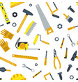 flat construction tools pattern vector image vector image