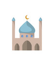 flat icon of the mosque vector image