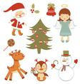 Fun Christmas set vector image vector image