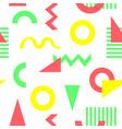 geometric color pattern memphis design confetti vector image vector image