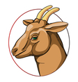 goat sign vector image