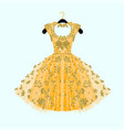 gorgeous golden dress vector image