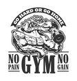gym sport club badge muscle crocodile in t-shirt vector image