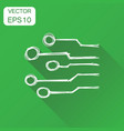 hand drawn circuit board icon business concept vector image