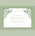 hand painted floral wedding landing page vector image vector image