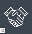 handshake related line icon vector image