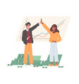 happy rich business people celebrating income vector image