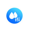 humidity control round icon on white vector image