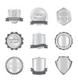 isolated object of emblem and badge symbol set of vector image vector image