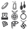 jewelry mark set vector image vector image