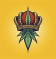 king cannabis logo weed vector image vector image
