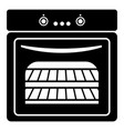 kitchen stove icon simple black style vector image vector image
