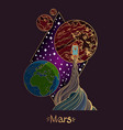 landscape of planet rhombus mars vector image vector image