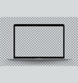 laptop perspective transparent vector image vector image