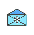letter of blue color christmas vector image vector image