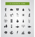 Modern flat design conceptual ecological icons vector image vector image
