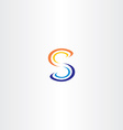 orange blue logo letter s logotype icon vector image