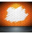 Painted brick wall vector image vector image