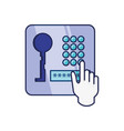 password keyboard access with hand vector image vector image