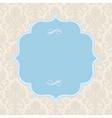 pastel ornate blue frame vector image vector image