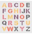 pixel geometric alphabet vector image vector image