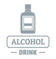quality alcohol logo simple gray style vector image vector image