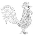 rooster entangle domestic farmer bird vector image vector image