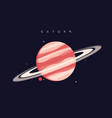 saturn sixth planet from sun vector image vector image
