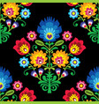 seamless folk art pattern - polish design vector image vector image