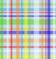 Seamless plaid pattern-blue vector image vector image