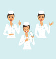 set doctor characters vector image vector image