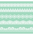 Set of lacy borders vector image