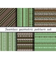 Set of six colorful ethnic patterns vector image