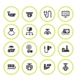 Set round icons of video surveillance vector image