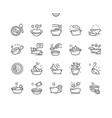 soup well-crafted pixel perfect thin line vector image vector image