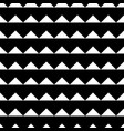 tile black and white triangle pattern vector image vector image