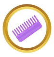 Toothed comb icon vector image vector image