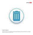 trash bin icon - white circle button vector image