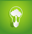 tree in light bulb shape vector image vector image