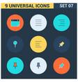 universal icons set vector image