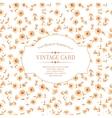Vintage card design vector image vector image