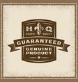 Vintage guaranteed genuine product label