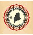 vintage label-sticker cards maine vector image