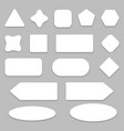 white empty buttons with shadow vector image vector image