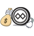 with money bagtenx coin character cartoon vector image vector image