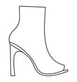 woman shoes icon thin line vector image