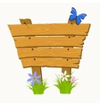 Wooden sign boards on a grass vector image