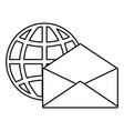 world email on white background vector image vector image