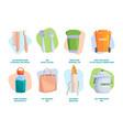 zero waste tips eco friendly lifestyle plastic vector image vector image